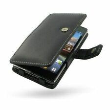 Pdair Black Leather Book Case Cover for LG Optimus 4X HD P880 + Belt Clip