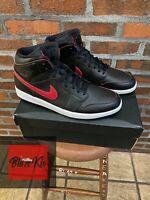 Air Jordan 1 Retro Mid, Black Team Red, Size 13