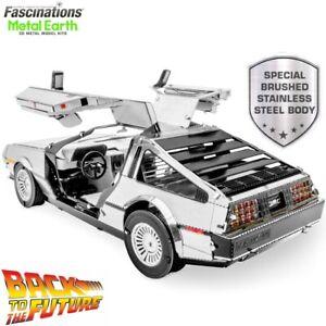 Metal Earth Back to the Future Delorean Time Machine Car 3D Model Building Kit