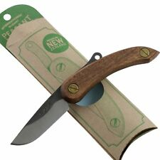 Svord Brown Wood Handle Mini Peasant Pocket Knife New Zealand Carbon Blade SVPKM