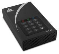 Apricorn Aegis Padlock ADT-3PL256-2000 2 TB External Hard Drive - USB 3.0 - 7200