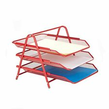 Mind Reader 3tpaper Red 3 Tier Letter Tray Pull Out Drawer Organizer Folders