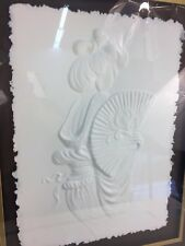 RELIEF SCULPTURE BY ROBERTA PECK signed and numbered Oriental Fan