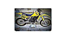 1983 yz490 Bike Motorcycle A4 Retro Metal Sign Aluminium
