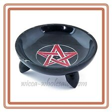 Pentagram Soapstone Incense Sage Smudge Charcoal resin, Cone Burner Plate