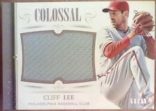 2014 National Treasures Colossal CLIFF LEE Jumbo Jersey Patch /99