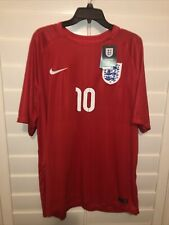 Vtg Nike 2014 England National Soccer Team Wayne Rooney Authentic Jersey 2Xl Nwt