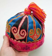 Vintage Hmong Miao Tribal Ethnic Baby Hat Thai Chinese Vietnam Asian Textile