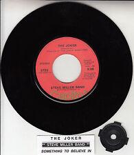 "STEVE MILLER BAND  The Joker 7"" 45 rpm vinyl record + juke box title strip RARE!"