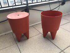 """Tabouret Philippe Starck """"Bubu 1er"""" plastique rouge"""