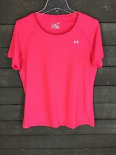 Under Armour 212 Bright Coral Heat Gear Fitted Top Athletic Women's L