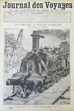 JOURNAL DES VOYAGES N° 789 de 1892 DRAME TRAIN  LOCOMOTIVE /  DRAME ST GERVAIS