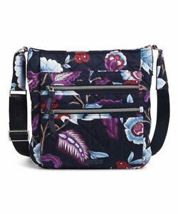 Vera Bradley Mayfair in Bloom Triple Zip Hipster Crossbody Bag