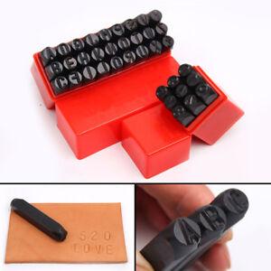 36pc Number & Letter Metal Punch Set Alphabet Mark Steel Stamp Craft Tool UK