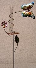 """Rain Gauge Butterfly NEW metal with plastic tube records 5"""" & 12.2 cm"""