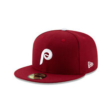Philadelphia Phillies MLB New Era Authentic 1982 Retro 59FIFTY Fitted Hat-Maroon