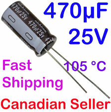 2pcs 470uF 25V 10x20mm 105C Nichicon PM Extremely Low Impedance For TV LCD PS PC