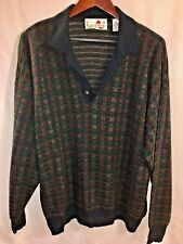 VTG 80's Florence Tricot Italy Men's XL Wool Blend Sweater Ugly Hip Hop