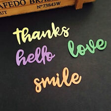 Letters Metal Cutting Dies Stencils DIY Scrapbooking Greeting Words Paper Craft