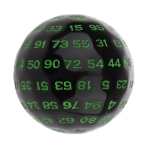 100 Sided Polyhedral Dice D100 Multi Sided Acrylic Dices for Table Board Game