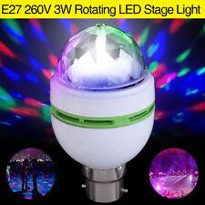 E27 3W Colorful Auto Rotating RGB LED Stage Light Bulb Effect Disco Club Lamp