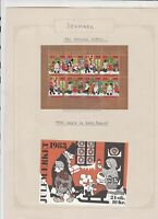 Denmark 1983 Christmas Labels Family Scene Charity Seals Stamps Sheet  R 18274