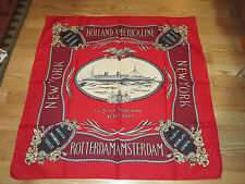 "VINTAGE HOLLAND AMERICAN NIEUW AMSTERDAM SCARF 34"" square"