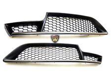 Pair of Genuine Alfa Romeo GT Blackline front bumper grilles satin chrome