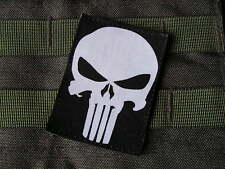 SNAKE PATCH - PUNISHER - fond NOIR --- Airsoft US ARMY special forces SEAL
