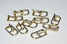 """10 EXTRA EXTRA TINY  BRASS PLATED   1/4"""" ROLLER  BUCKLES"""