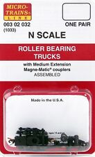 Micro-trains N 1033 Roller Bearing Trucks med. extension couplers MTL00302032