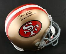 Jerry Rice SIGNED SF 49ers F/S Helmet + 13 Time Pro Bowl PSA/DNA AUTOGRAPHED