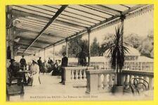 cpa FRANCE 88 - MARTIGNY les BAINS (Vosges) La Terrasse du GRAND HÔTEL Animés
