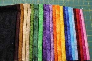 22 ASSORTED ILLUSIONS QUILT FABRIC FAT QUARTERS BY CHOICE FABRICS