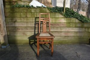 Antique Oak Mission Style Chair