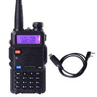 BaoFeng UV-5R 136-174/400-520MHz Dual-Band ham 2 way radio Walkie Talkie +Cable