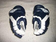 Brand New Mission H350 Hockey Gloves 12 Inch Model Blue & White Great Gloves
