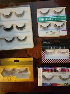 Lot Of 8 False Eyelashes- Rue 21(3 pk), Diamonds, Toni, Wet n Wild, etc..