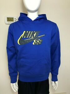 Nike Boys SB Logo Pullover Hoodie Sweatshirt Jacket Varsity Royal Blue Sz S