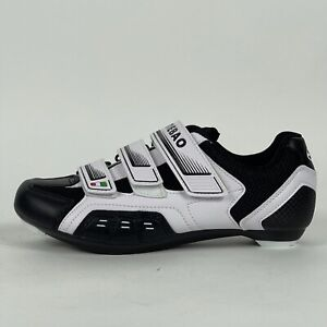 Tiebao Men US 7.5 Road Cycling Shoes Bike Shoes Bicycle~White & Black~NEW!