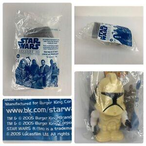 Star Wars Episode III Clone Trooper walking wind-up toy NIB Burger King 2005 New