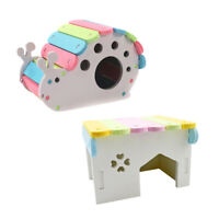 2x Cute Pet Animal Wooden Bed House Cage Villa For Rat Mouse Dwarf Hamster