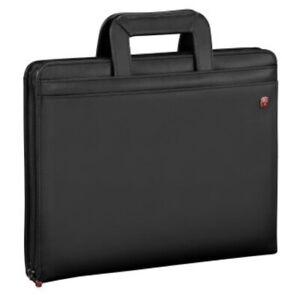 Wenger Luggage Venture Zippered Presentation Padfolio, Black, One Size