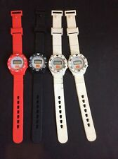 4 Vintage Burger King Watches Plastic Rubber Red White Black