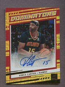 2020-21 Donruss Dominators Gold Vince Carter Atlanta Hawks AUTO 3/10