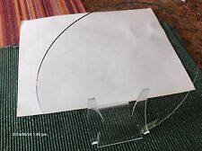 "NOS  CONVEX Clock Glass NOS Parts Clear 8 15/16"" Diameter Round, 1.77 mm Thick"