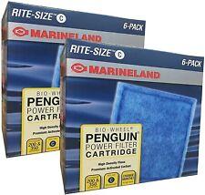 12-Pack Marineland Rite-Size Cartridge C Bio-Wheel Penguin Power Filter free