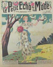 LE PETIT ECHO DE LA MODE N° 17 de 1936 GRAVURE VINTAGE PRINTEMPS A LA CAMPAGNE