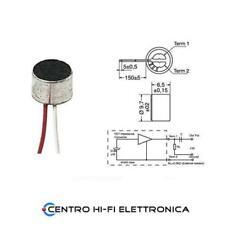 Capsula Microfono a condensatore omnidirezionale 2 fili