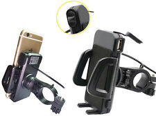 X Bike Motorcycle Handlebar 4.7-6 Inch Cell Phone GPS  Mount Holder USB Charger